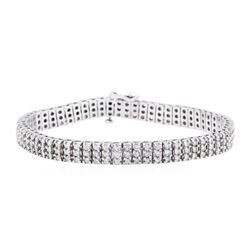 14KT White Gold 4.00 ctw Diamond Tennis Bracelet
