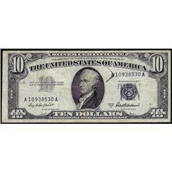 1953A $10 Silver Certificate Note