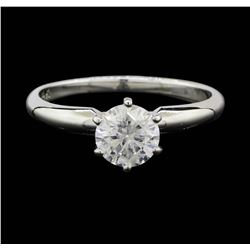 14KT White Gold 0.83 ctw Diamond Solitaire Ring
