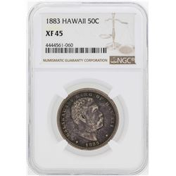 1883 Kingdom of Hawaii Half Dollar Coin NGC XF45