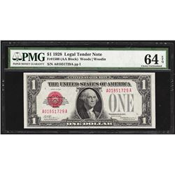 1928 $1 Legal Tender Note Fr.1500 PMG Choice Uncirculated 64EPQ