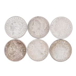 Lot of (6) 1921 $1 Morgan Silver Dollar Coins