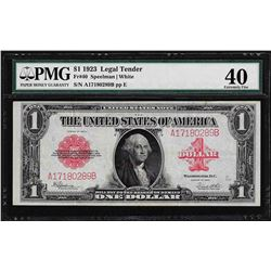 1923 $1 Legal Tender Note PMG Extremely Fine 40
