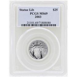 2003 $25 American Platinum Eagle Coin PCGS MS69