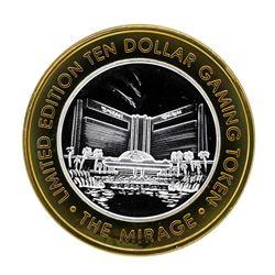 .999 Silver The Mirage Las Vegas, Nevada $10 Casino Gaming Token Limited Edition