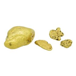 Lot of (4) Alaskan Gold Nuggets 8.94 Grams