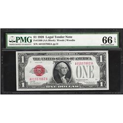 1928 $1 Legal Tender Note Fr.1500 PMG Gem Uncirculated 66EPQ