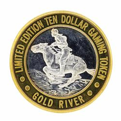 .999 Silver Gold River Laughlin, Nevada $10 Casino Limited Edition Gaming Token