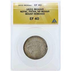1631 Nepal Mohar Coin ANACS EF40