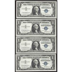 Lot of (4) Consecutive 1957 $1 Silver Certificate Notes Uncirculated