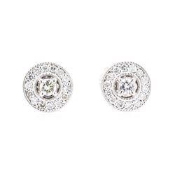 14KT White Gold 0.30 ctw Diamond Earrings