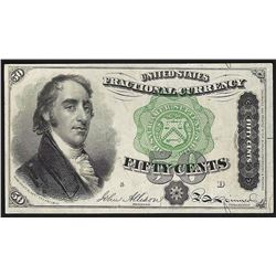 March 3, 1863 Ten Cents Fourth Issue Fractional Currency Note
