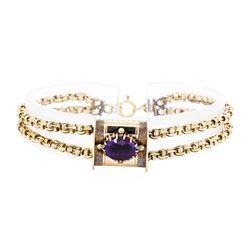 14KT Yellow Gold 2.00 ctw Amethyst Slide Bracelet