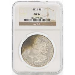 1882-S $1 Morgan Silver Dollar Coin NGC MS67