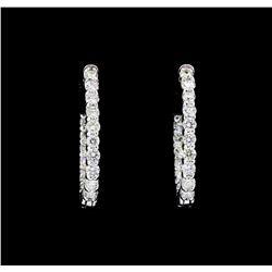 14KT White Gold 2.00 ctw. Diamond Hoop Earrings