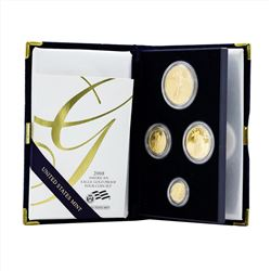 2008 (4) Coin American Gold Eagle Proof Coin Set with COA