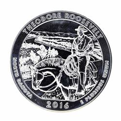 2016 5oz Silver ATB Theodore Roosevelt North Dakota Silver Coin