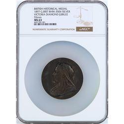 1897 Great Britain British Historical Medal NGC MS63