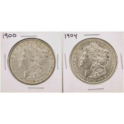 Lot of (2) Assorted Date $1 Morgan Silver Dollar Coins