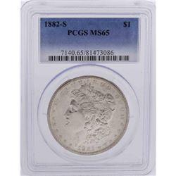 1882-S $1 Morgan Silver Dollar Coin PCGS MS65