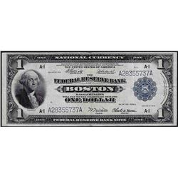 1918 $1 Federal Reserve Bank of Boston Note
