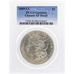 1889-CC $1 Morgan Silver Dollar Coin PCGS Genuine XF Details