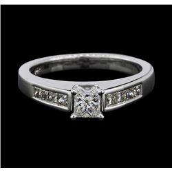 14KT White Gold 0.78 ctw Diamond Ring