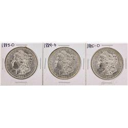 Set of 1883-O to 1885-O $1 Morgan Silver Dollar Coins