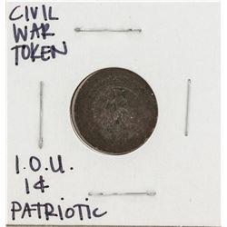 Civil War I.O.U 1 Cent Knickerbocker Token