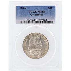 1893 Columbian Centennial Commemorative Half Dollar Coin PCGS MS64