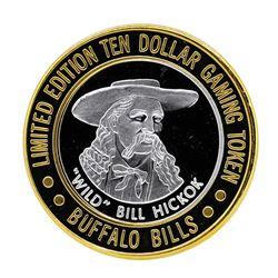 .999 Silver Buffalo Bills Resort & Casino $10 Limited Edition Gaming Token