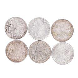 Lot of (6) 1921 $1 Morgan Silver Dollar Coins