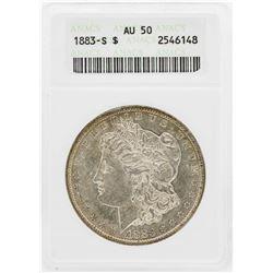 1883-S $1 Morgan Silver Dollar Coin ANACS AU50