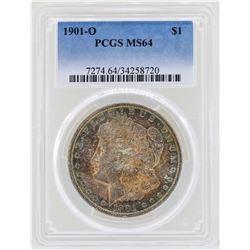 1901-O $1 Morgan Silver Dollar Coin PCGS MS64 Great Toning