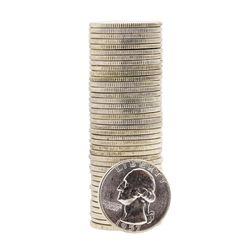Roll of (40) 1957 Brilliant Uncirculated Washington Silver Quarters