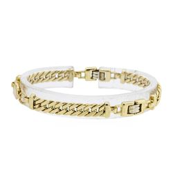 18KT Yellow and White Gold Link Style Bracelet
