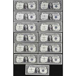1935-1957 $1 Silver Certificate Note Set