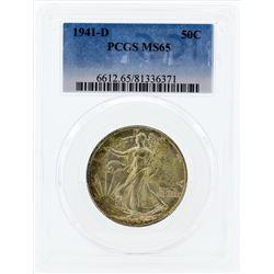 1941-D Walking Liberty Half Dollar Silver Coin PCGS MS65