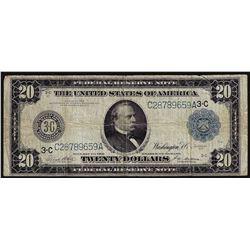 1914 $20 Federal Reserve Note Philadelphia