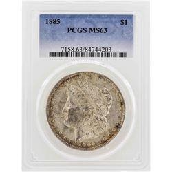 1885 $1 Morgan Silver Dollar Coin PCGS MS63