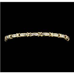 10KT Yellow Gold Ladies 0.50 ctw Diamond Tennis Bracelet