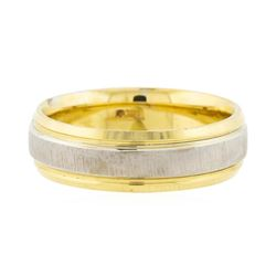 Two Tone 14KT Yellow Gold Men's wedding band