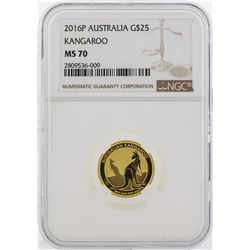 2016P Australia $25 Kangaroo Gold Coin NGC MS70