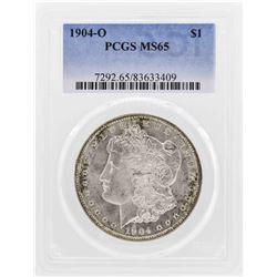 1904-O $1 Morgan Silver Dollar Coin PCGS MS65