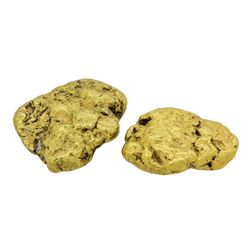 Lot of (2) Alaskan Gold Nuggets 7.58 Grams