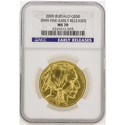 2009 $50 American Gold Buffalo Coin NGC MS70 Early Releases