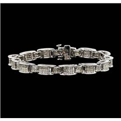 14KT White Gold 6.67 ctw Diamond Bracelet