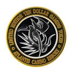 .999 Silver Atlantis Casino Resort Reno, NV $10 Casino Limited Edition Gaming To