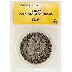 "1888-O $1 Morgan Silver Dollar VAM-4 ""Hot Lips"" Top 100 ANACS VG8"