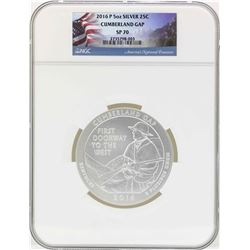 2016P 5oz ATB Cumberland Gap Kentucky Silver Coin NGC SP70